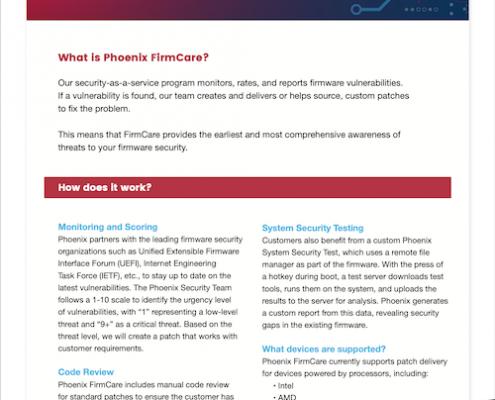 FirmCare Solution Sheet